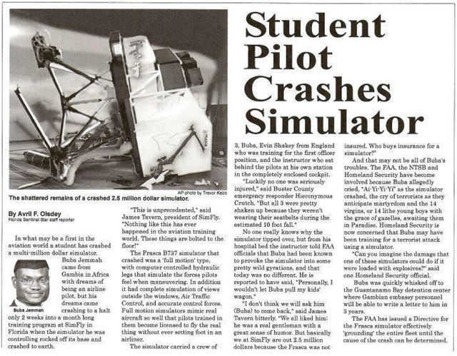 THE NIGHT I ALMOST DIED IN A PLANE CRASH…      WHILE FLYING A SIMULATOR!